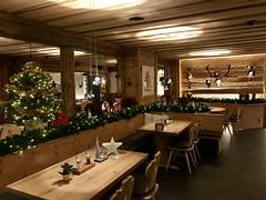 Restaurant in Weihnachtsdeko