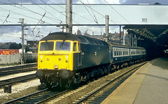Class 47 Hauled To Manchester. (Neil Harvey 156) Tags: railway 47229 preston prestonstation westcoastmainline wcml locohauledpassengertrain class47 brblue railblue brushtype4 sulzer duff spoon
