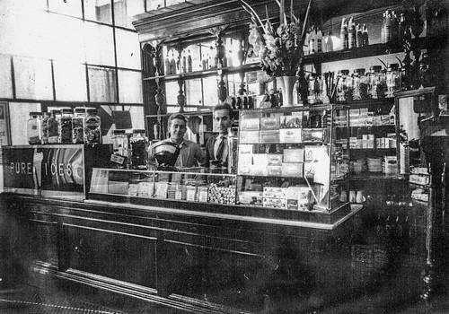 inside the Grosvenor Cafe, 1949.