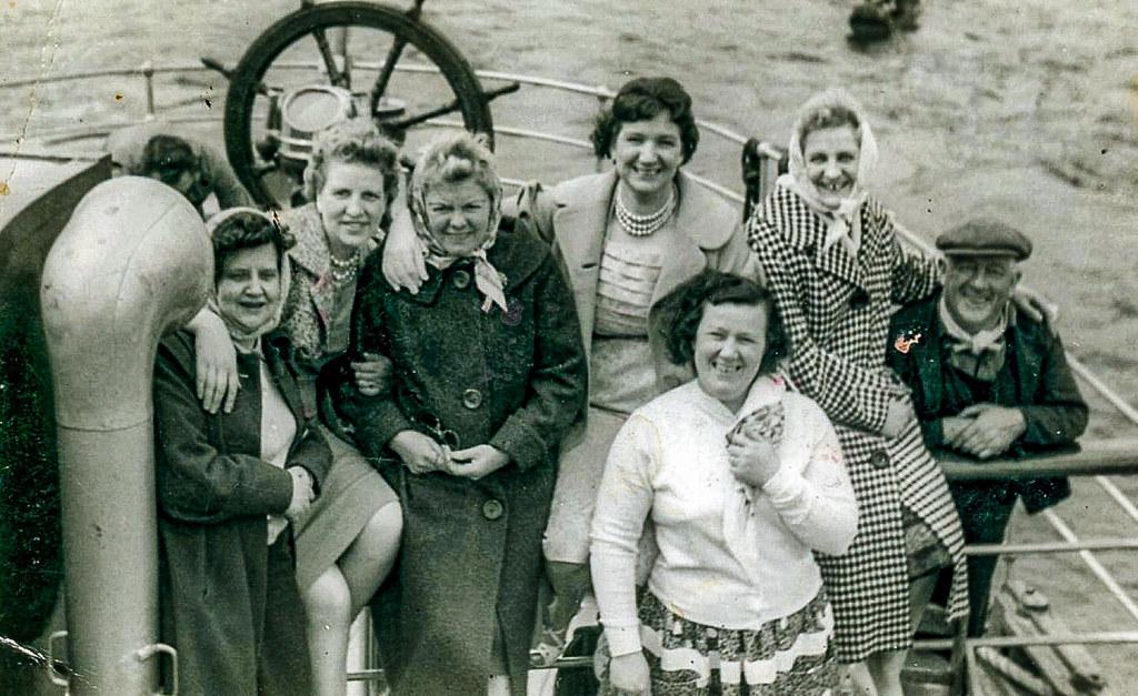 Betty Watt with Helen Gorman 1950s