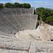 The great theatre of Epidaurus, built in the 4th century BC, Sanctuary of Asklepios at Epidaurus, Greece