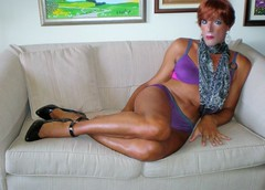 Karen (Karen Maris) Tags: scarf pumps highheels legs body karen crossdressing redhead tgirl transgender bikini tranny transvestite heels pantyhose crossdresser crossdress tg stilettos transsexual trannie feminized enfemme tgurl