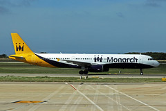 G-OJEG 3 Airbus A321-231 Monarch Airlines MAH 17OCT14 (Ken Fielding) Tags: gojeg airbus a321231 monarchairlines aircraft airplane airliner jet jetliner
