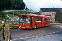 Daimler Fleetline with Alexander W-type body no. LUP382J @ Durham, 18/08/1979 [slide 7910] (graeme9022) Tags: red england bus general north transport east deck single transportation poppy service local passenger 1970s decker