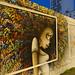 Fresque Rosa Parks fait le mur, rue Riquet