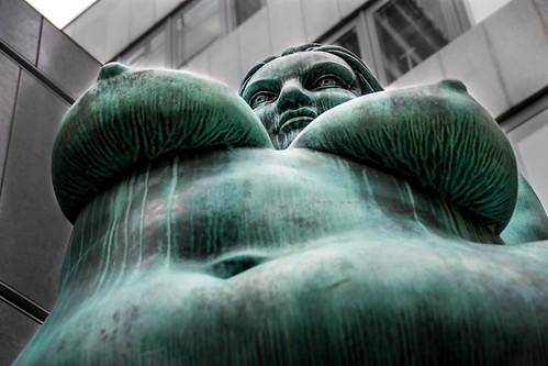 Goddess of fertility, particular view. Seen in Berlin.