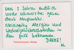 Allergie, Wechselnjahrbeschwerden
