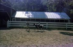 Bobby on a pony (epicharmus) Tags: 1974 ny newyork upstate upstatenewyork warrencounty lakegeorge adirondacks vacation trip roaringbrookranch ranch resort robertdaddino daddino boy kid child horse pony stable