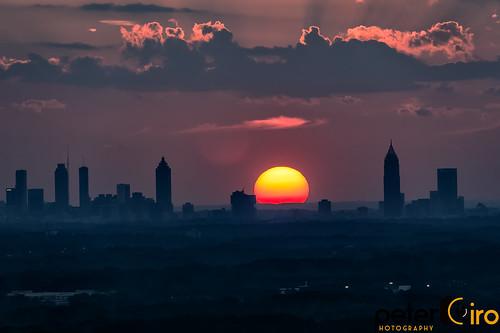 Sunset Behind the Atlanta Skyline on 2-22-18