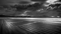 Inch (Gullivers adventures) Tags: ireland kerry beach inch clouds blackandwhite sand sea ocean contrast mountains amazing