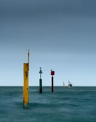 Buoy Line colour (Stuart Feurtado) Tags: longexposure buoys color leefilters littlestopper le seaside groyne coast sea colour