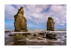 """Two Sisters"" Tongaporutu New Zealand (Dominic Scott Photography) Tags: dominicscott newzealand northisland taranaki tongaporutu rocks beach sea longexposure sony sel1635gm gmaster leefilters leeirnd ilce7rm3 a7rm3 a7rmiii manfrotto breathtakinglandscapes"