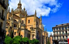 Catedral de Segovia (Anavicor) Tags: church iglesia cathedral catedral arquitectura edificio plazamayor segovia castillayleón spain españa nikkon dslr d5300 anavicor anavillar villarcorreroana