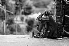 No Alms (DSF_8607) (Param-Roving-Photog) Tags: oldman beggar alms dejection sad vagrant emotions hidingface destitution baijnath temple uttarakhand india streetphotography bw blackandwhite monochrome nikond750 nikkor 70200f28