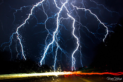 Catching lightning in a driving car!