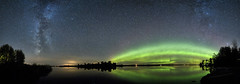 Milkyway and Aurora (Peter Stahl Photography) Tags: milkyway northernlights northerlights aurora auroraborealis skies stars water green fall eos 5ds r canon