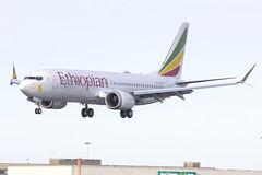 ET-AVM   Ethiopian Airlines   Boeing B737-8 MAX   CN 62446   Built 2018   DUB/EIDW 01/07/2018   1st Ethiopian Max on delivery flight (Mick Planespotter) Tags: etavm ethiopian airlines boeing b7378 max 62446 2018 dubeidw 01072018 1st delivery flight aircraft airport b737 dublinairport collinstown nik sharpenerpro3 b73m