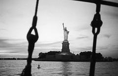 Statue of Liberty, Liberty Island, NYC (felixmiddendorf) Tags: 35mmfilm adonal150 clippercity kodaktrix400 libertyisland lowermanhattan manhattan newengland2016 newyork newyorkcity nikoncoolscan5000ed olympusxa statueofliberty usa
