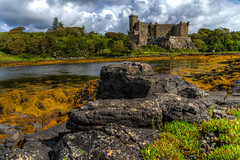 View to Dunvegan Castle, Isle of Skye, Scotland