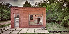no deposit, no withdrawal.... (BillsExplorations) Tags: windowwednesday closed ghosttown abandoned ruraldecay forgotten decay abandonedkansas glendale bank old empty brick hww