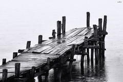 w&w (dim.pagiantzas | photography) Tags: wood wooden water waterscape sea seascape reflections textures blackandwhite grayscale construction minimal minimalistic canon outdoor rain rainy