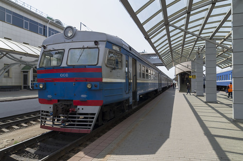 Passenger train at the Vitebsk railway station, 17.05.2014.