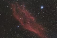 NGC 1499 (Nebulosa California) (Miguel Garcia.) Tags: california ed80 nebulosa nebula ngc1499 space espacio estrellas telescopio telescope astronomy science cosmos universe longexposure night nightsky hydrogen skywatcher astrometrydotnet:id=nova3162850 astrometrydotnet:status=solved