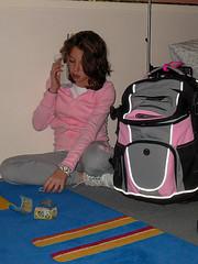 Emily packs