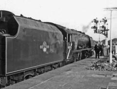"46245 ""City of London"" Shrewsbury (Peter Leigh50) Tags: creweworks 46245 cityoflondon locospotters 46233 lms coronation class steam locomotive engine railway train station people"
