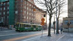 Runeberginkatu. Töölö, Helsinki (Josh Khaw) Tags: tram helsinki sunset sun street golden
