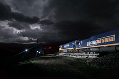 Into the storm (Shawy in Brisbane) Tags: glenapp pacificnational queensland clouds composite flash landscape lightning storm storms train
