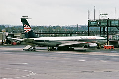 al1749 (George Hamlin) Tags: gapfo london crawley surrey england gatwick international airport lgw ramp british airtours airline boeing 707 420 aircraft airliner jet rollsroyce conway engine power union jack photo decor george hamlin photography