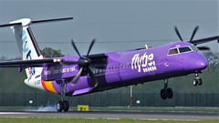 G-JEDR (AnDyMHoLdEn) Tags: flybe dash8 bombardier egcc airport manchester manchesterairport 05r