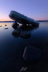 Dernier combattant (jlf_photo) Tags: landscape seascape water river ice iceberg rock roche glace froid hiver printemps eau rivière fleuve