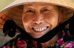 What a smile! (F Image Gallery) Tags: portrait portraitphotography fabiolavelasquez travelphotography wrinkles face hat vietnam smile joyful grandmother head shoulders closeup street photography happyplanet asiafavorites