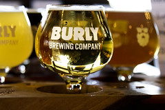 Return to Burly (.sanden.) Tags: beer logo business brewery burlybrewingcompany canon7dmarkii ef24105mm light liquid macro sanden colorado yellow glass flight