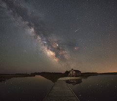 Old Ferry's Landing (Mike Ver Sprill - Milky Way Mike) Tags: old ferrys landing maryland milky way galaxy universe assateague island astrophotography astronomy mike versprill ver sprill reflections reflection bay marsh wetlands space shooting star meteor shack