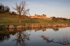 Early morning castle (digiphill) Tags: 2019 alnwick alnwickcastle april castle northeast northumberland riveraln spring sunrise