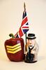Churchill and Sgt. Pepper (jeffyphotos) Tags: winstonchurchill redpepper unionjackflag royaldoultonfigurine