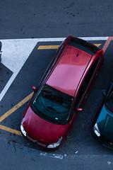 #AL -  Streetphotography RED CAR (RomxnJota) Tags: street coche calle perspectiva urbana fotografía rojo líneas ciudad arte artista curvas cemento asfalto vías avenida acera vehículo urbano top urban car red art canon eos 77d 50mm estilo normal simple lineas