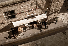 Watching the locals (willjackson.eu) Tags: nikond40x nikkor 35mm f18g malta valletta europe street road bar man drink building looking down