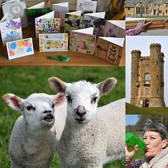 105 2019 birthday walk near Broadway Tower (Margaret Stranks) Tags: 105365 365days 2019 lambs broadway broadwaytower worcestershire uk easel birthday cards drink