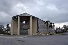 030219-631F (kzzzkc) Tags: nikon d750 usa florida nearpanamacity damage hurricanmichael october2018 destroyed church cloudy day