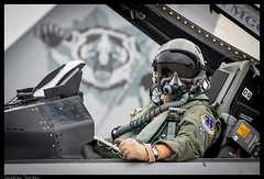 BADGER (jderden77) Tags: northernlightning military aviation aircraft airplane jet fighter volk kvok usaf airforce airnationalguard wisconsinang badgermilitia f16 viper fightingfalcon pilot 176fs 115thfighterwing 115fw