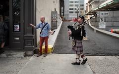 Monty Hall, Scott, a mic, the pipes. (jbm0) Tags: jerseycity nj usa