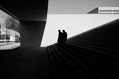 Kanti Enge (maekke) Tags: zürich silhouette bw noiretblanc 35mm fujifilm x100f highcontrast architecture stairs concrete switzerland ch streetphotography enge