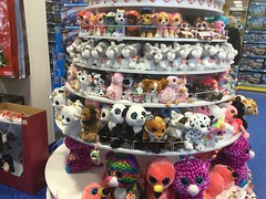 Lots TY Beanie Boos in Toy Shop (weldon.aimee) Tags: ming skyhigh gilda dotty kiwi louie ty beanie boos harmonie buff rodney barks catcher dangler harper millie enchanted sailor chimps fay freckles twiggy yago franky pegasus topaz skye zuma rocky everest chase marshall nori zelda smyths toys bandit pearl rufus bo
