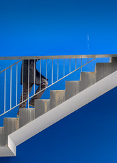 abstract blue staircase (jeffclouet) Tags: paris france europe capital nikon nikkor d7100 beaugrenelle blue bleu azul colores colours stair staircase step escaleras escalier minimal abstract abstracto abstrait urban urbano urbain city ville cuidad downtown architecture arquitectura alone solo seul symmetry immeuble edificio building batiment geometric geometrico grafico geometrique graphic modern moderne moderno minimalism minimum couleur