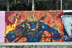 Braga - street art (jaime.silva) Tags: braga portugal portugalia portugalsko portugália portugalija portugali portugale portugalsk portogallo portugalska portúgal portugāle painting paint spraypaint spray spraypainting muralpainting mural pinturamural streetart streetartist graffiti graf urban urbanart arteurbana toner