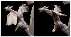 ORIGAMI- MOTHER OF DRAGONS/KHALEESI/ (Daenerys Targaryen) (GOT)! - Drag3 (Neelesh K) Tags: origami khaleesi mother dragons daenerys targaryen queen game thrones character 48 grids boxpleating tracing paper folding neeleshk